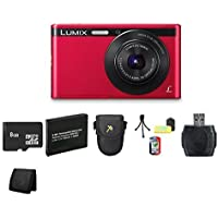 Panasonic Lumix DMC-XS1 16.1 MP Digital Camera (Red) Bundle 1
