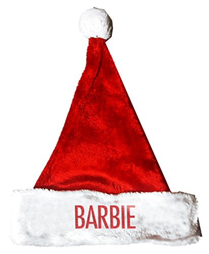 Barbie Dress Up Costumes For Adults (BARBIE Santa Christmas Holiday Hat Costume for Adults and Kids u6)