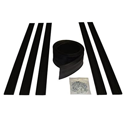 Auto Care Products 54020 20-Feet Garage Door Bottom Seal Kit with Track and Mounting Hardware