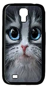 Cutie Pie Kitten Face Custom Samsung Galaxy I9500/Samsung Galaxy S4 Case Cover Polycarbonate Black