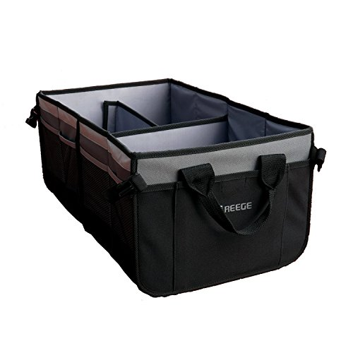 REEGE Premium Cargo Trunk Organizer Multifunctional Car Storage Boxes Bins Vehicle Cargo Carriers and collectors