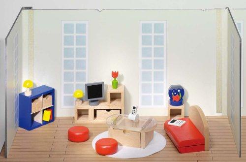 Goki 51749 - Puppenmöbel Wohnzimmer
