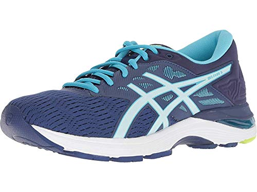 ASICS Womens Gel-Flux 5 Running Shoe, Blue Print/Soothing Sea, Size 8.5