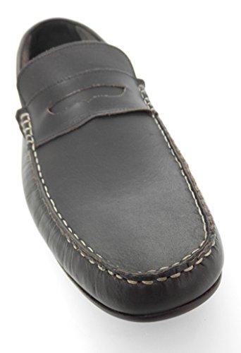 Zerimar Mocassin en Cuir Pour Hommes Mocassin Homme Chaussure Homme Hiver Couleur Marron Taille 45