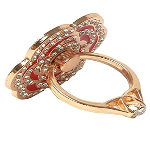 ABC® Universal Finger Stand Bracket Buckle Rose Ring Stander Phone Holder (Pink) - Vertical Stander