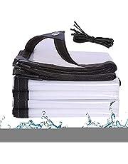 J&SKD Dekzeil, waterdicht, transparant, met ogen, levering binnen 7 dagen, doorzichtig zeil voor buiten, tent, doorzichtig zeil, tuin, tentzeil, afdekzeil, voor buiten en vorstbestendig