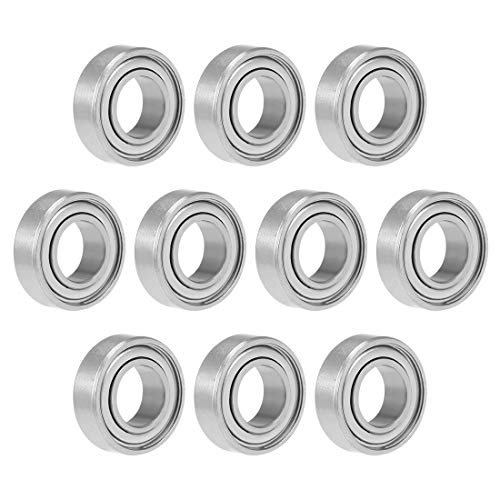 uxcell 688ZZ Deep Groove Ball Bearing 8x16x5mm Double Shielded Carbon Steel Bearings 10-Pack ()
