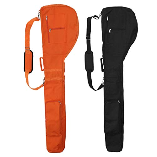 Baosity Set of 2 Golf Training Practice Pouch Bag Golf Travel Case Carry Protector for Golf Club Cover with Handle and Strap