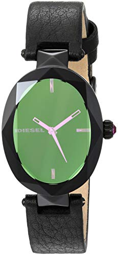 Diesel Women's 'Julez' Quartz Stainless Steel and Leather Watch, Color:Black (Model: DZ5578)