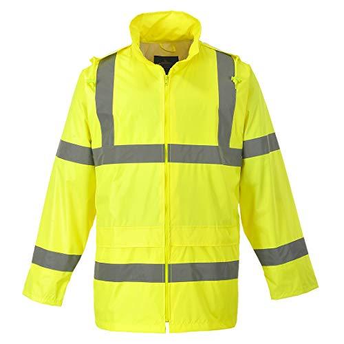(Portwest UH440YERXXL Regular Fit Hi-Vis Rain Jacket, XX-Large, Yellow)