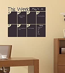 Chalkboard Calendar: This Week Calendar with Half Bubble Days