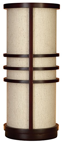 Deco 79 58805 Wood Table Lamp, Brown and Biege