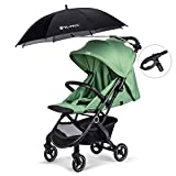 YLYYCC Baby Stroller Sun Shade/Stroller Umbrella/Uv Protection Umbrella 360 Degrees Adjustable Direction Stroller Accessories (Black-A)