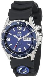 Orient Men's CEM65005D 'Blue Mako' Automatic Dive Watch With Black Rubber Band
