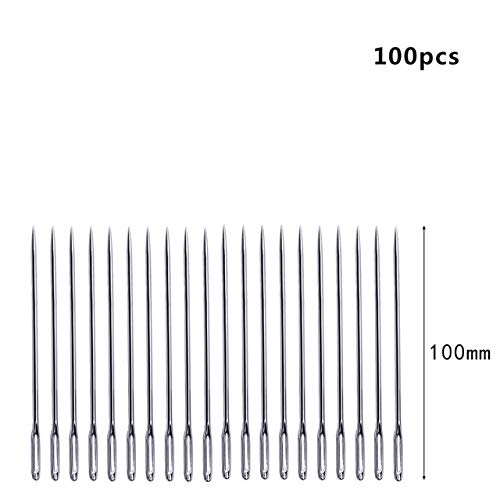 Sewing Needles - 20/100PCS 175MM Long Stainless Steel DIY Handmade Sewing Needle for Leather Needles Household Sewing Tool Accessories Pins by Sewing Needles