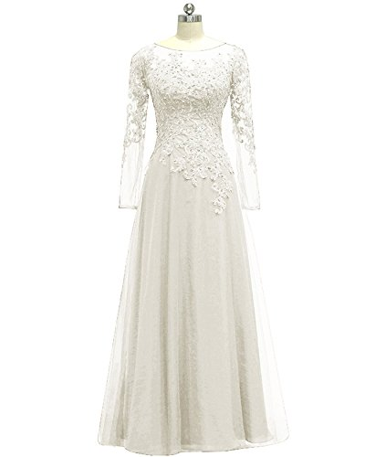ivory mother of the bride plus size dresses - 2