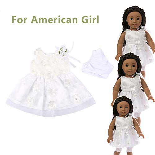 Theshy Accessory Toy Daily Costumes Doll Clothes Dress for 18 Inch American Girl Doll -