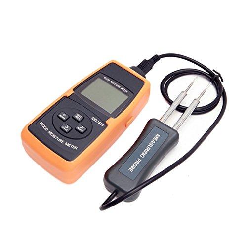 デジタルメーター LCDデジタル木質水分計 2%〜60% 木材竹紙の水レベルと温度測定ツール MD7820 高精度テスター