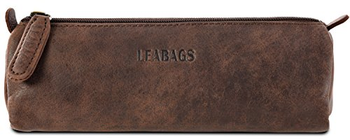 LEABAGS Fort Lauderdale genuine buffalo leather pencil holder in vintage style - - Lauderdale In Style Fort