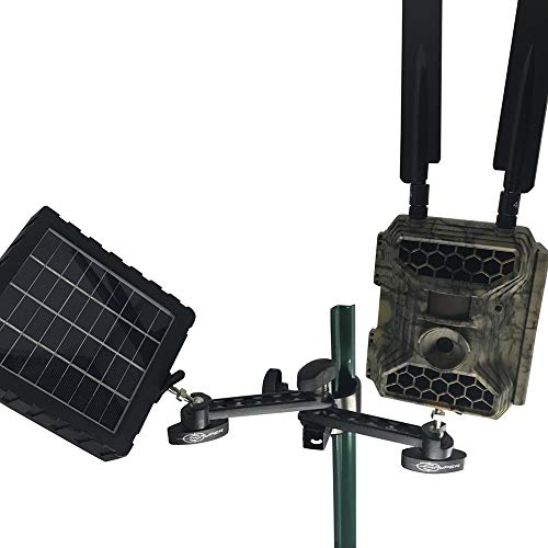 - Snyper Hunting Trail Camera Mount for Game Monitoring.Trail Camera Holder with Adjustable Options. ¼ - 20 Threaded Insert for Versatile Trail Cam Mount (Dual Cam T-Post)