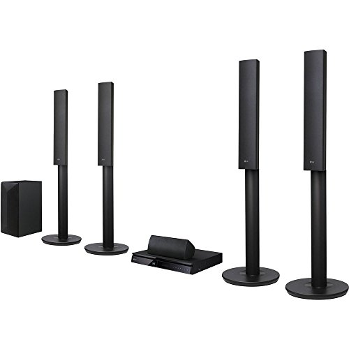 LG LHB655 Smart Bluetooth Multi Region Free 5.1-Channel Blu Ray DVD Home Theater Speaker System w/ Free HDMI Cable, 110-240V by LG