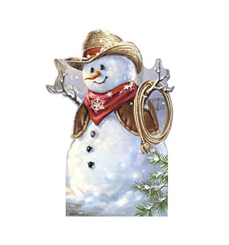 Advanced Graphics Cowboy Snowman Life Size Cardboard Cutout Standup - Dona Gelsinger Art
