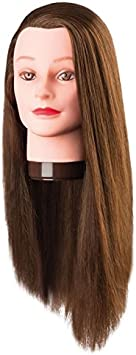 Comair 7001170 Pia - Cabeza de ejercicios (pelo de proteína), color marrón