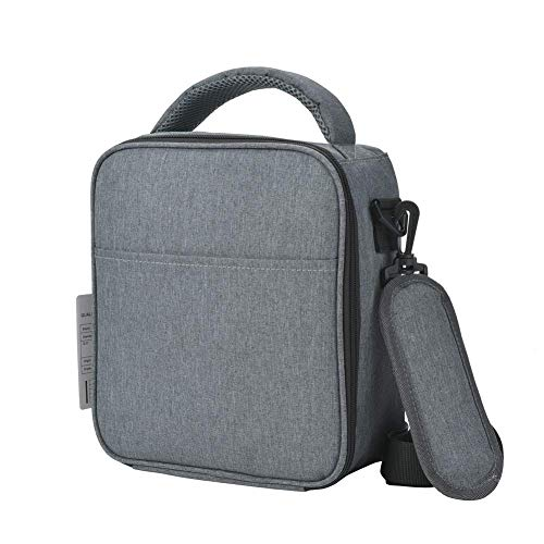 Insulated Lunch Bag for Men with Shoulder Strap Soft Reusable Lunch Tote Box Cooler Bag Great Gift for Adults to Work(Grey-W)