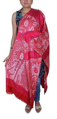 Motif bleu de dieu -Indian mariage envelopper mariée volé un foulard pour les filles