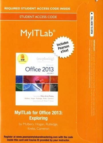 MyLab IT with Pearson eText    Access Card    for Exploring with Office 2013