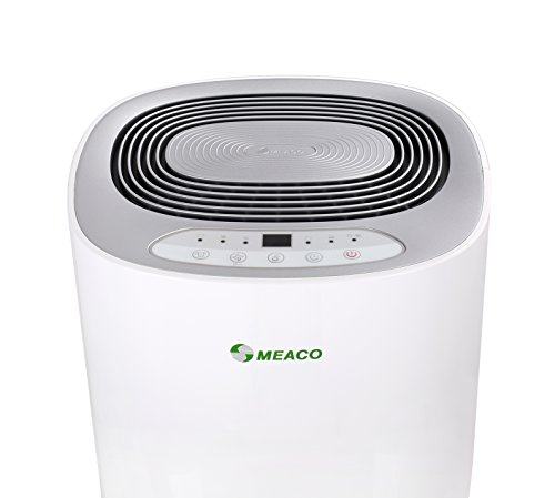 Meaco MeacoDry Dehumidifier ABC Range 12L (Silver) Ultra-Quiet, Energy Efficient, Choice of Colours, - Beats Desiccant Dehumidifiers on Sound Levels - Ideal for Damp and Condensation in the Home