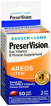PreserVision Eye Vitamin and Mineral Supplement AREDS With Lutein - 50 Softgels, Pack of 6