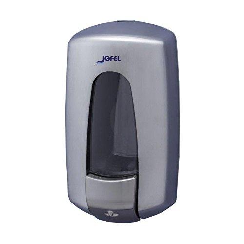 Jofel ac79000 Aitana Soap Dispenser, Satin Stainless Steel, Refillable, 0.9 l 0.9l