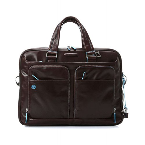 - Piquadro Portfolio Computer Briefcase with iPad Compartment, Mahogany, One Size