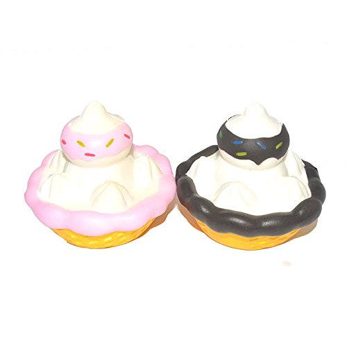New Jumbo Squishy Ice Cream Delicious Cream Chocolate Slow Rising Scented Cake - Studio Grab Bar
