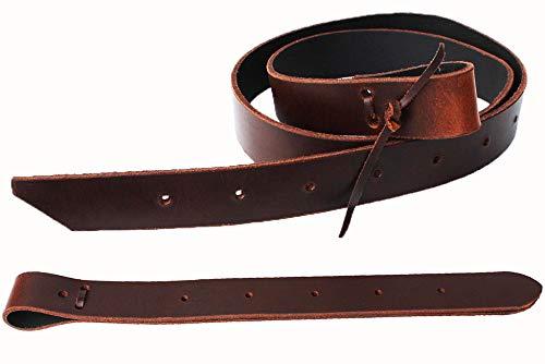 PRORIDER Horse Western Saddle Latigo Off Billet & Cinch Strap 2-Piece Set with Holes 40415 ()
