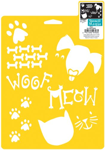 Delta Creative Stencil Mania Stencils, 7 by 10-Inch, SM97-0880 Pets