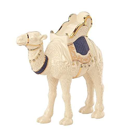 Nativity Lenox (Lenox First Blessing Nativity Standing Camel Blue Saddle Pad Porcelain)