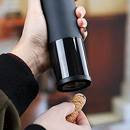 Winnes sacacorchos eléctrico profesional inalámbrico recargable abridor de botellas de vino abridor automático de botellas para amantes del vino enología regalo de Navidad (negro)
