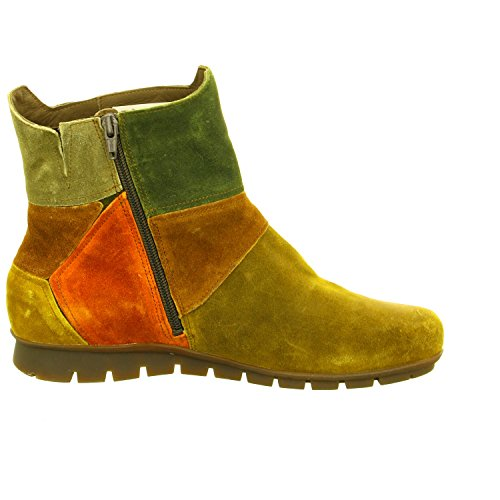 Think (Foot Foundation) 7-87089-52 women's ankle boot in Safari Kombi patchwork suede 277 4.5 UK SAFARI/KOMBI mjZ53J0