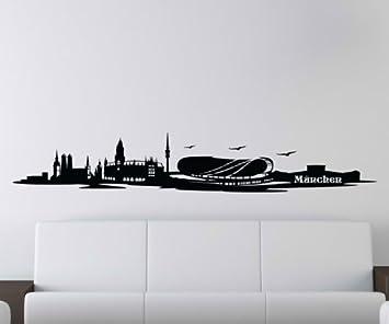 wandtattoo fc bayern skyline reuniecollegenoetsele. Black Bedroom Furniture Sets. Home Design Ideas