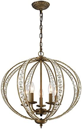 ELK Lighting 15965 5 Chandelier, One Size, Bronze