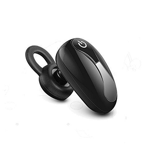 Mini Headset Wireless Invisible In-Ear Bluetooth Headset Car Headphone Earbuds Earpiece Hands-free Calling for iPhone 6 7 6s Plus Samsung Xiaomi Sony Lenovo HTC LG and Most Smartphone (Black)
