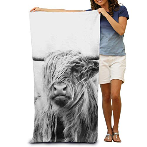 Portrait of a Highland Cow Bath Towels Beach Towels Pool Towels Adults Soft Absorbent 31X51 inches