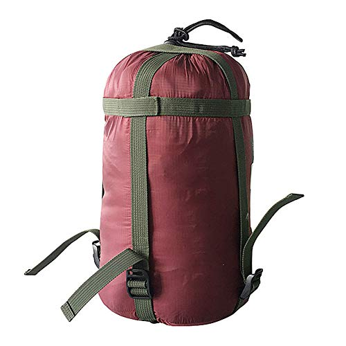 Kathleen0 Sleeping Bag Pack Bedding amping Portable ompression King Nylon Travel Sports Tent arry Outdoor Stuff Sack(Wine Red)