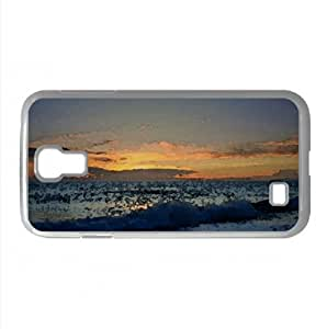 Sea At Twilight Watercolor style Cover Samsung Galaxy S4 I9500 Case (Beach Watercolor style Cover Samsung Galaxy S4 I9500 Case)