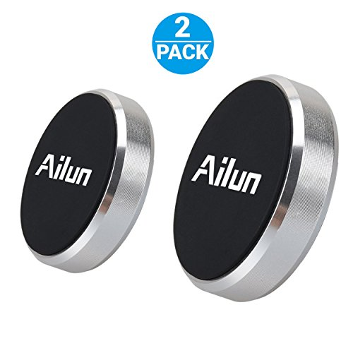 Mini Car Phone Mount Magnet Key Holder by Ailun 2Pack Stick on Dashboard Magnetic Car Mount Holder for iPhone 11/11 Pro/11 Pro Max/X Xs XR Xs Max alaxy S10 S9 Plus Note 10 and More Phones Silver