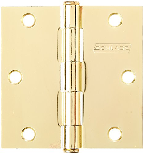 (SCHLAGE LOCK CO SC3P1010F-605E BB SQ Corn Hinge, 3.5-Inch, 3-Pack)
