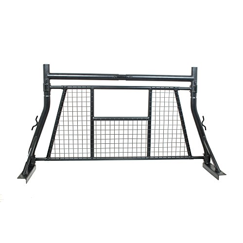 AA-Rack Model X35-A-W Adjustable Headache Rack Single Bar Extendable Pick-up Truck Rack with Protective Screen Set - Pickup Screen