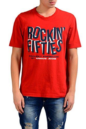 ARMANI JEANS AJ Rock In Fifties Men's Crewneck T-Shirt US XL IT 54;